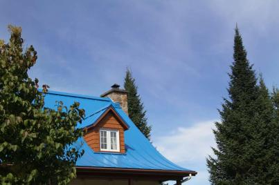 Un toit typique des habitations de St Sauveur
