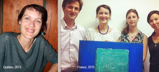 Sandra 2 ans plus tard et une toile vendue en plus ! Crédits photos: Québec Inspire et Sandra B